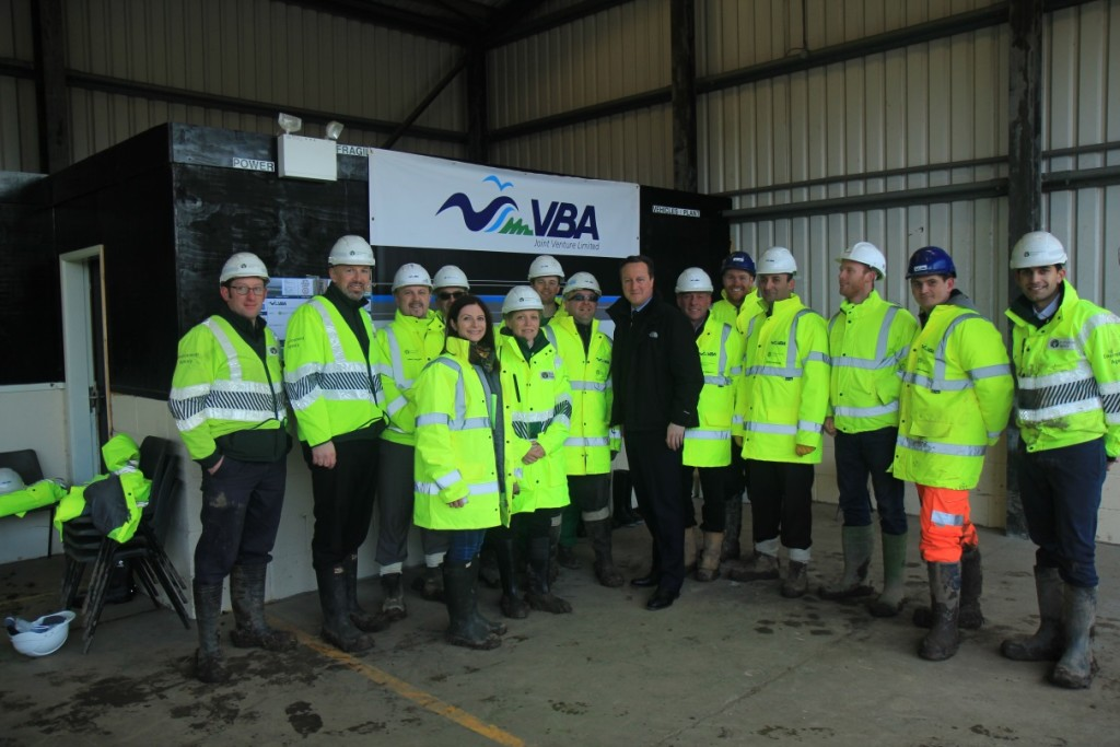 Prime Minister David Cameron with VBA and EA colleagues.