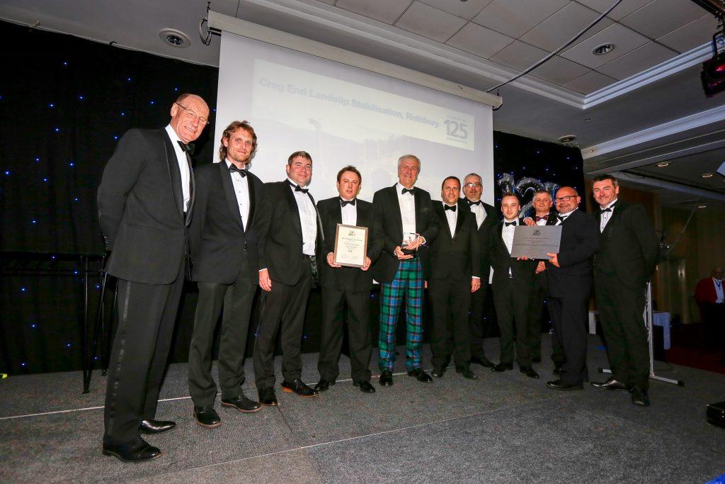 the VBA team collecting the award.